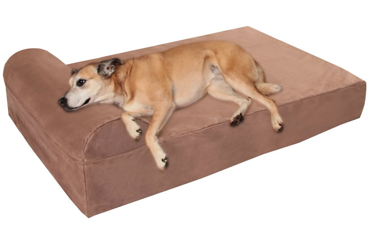 "Big Barker 7"" Pillow Top Orthopedic Dog bed with Headrest"
